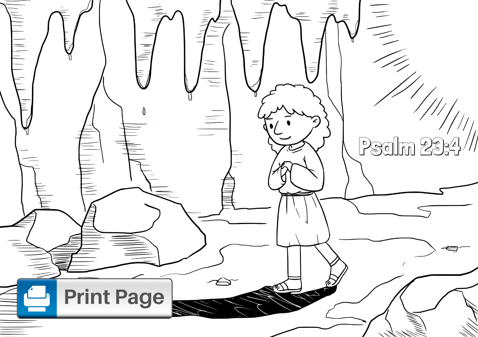 Psalm 23 Coloring Sheet