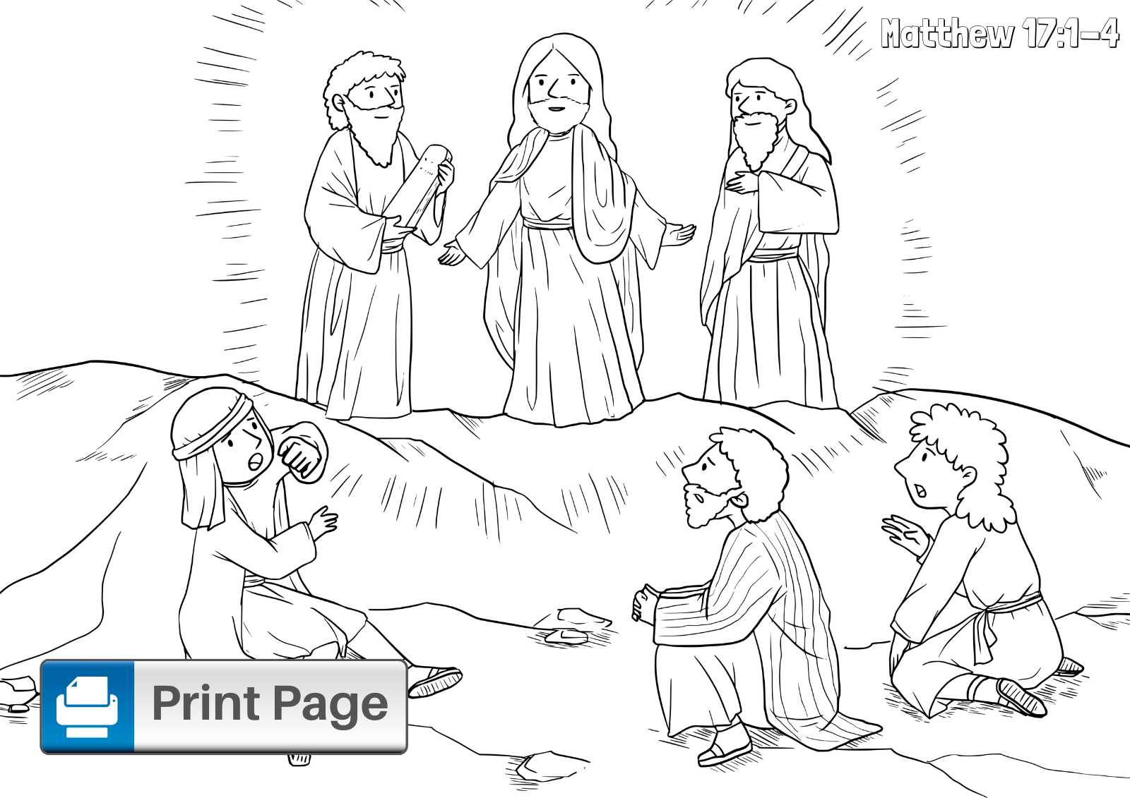 Tranfiguration Coloring Page