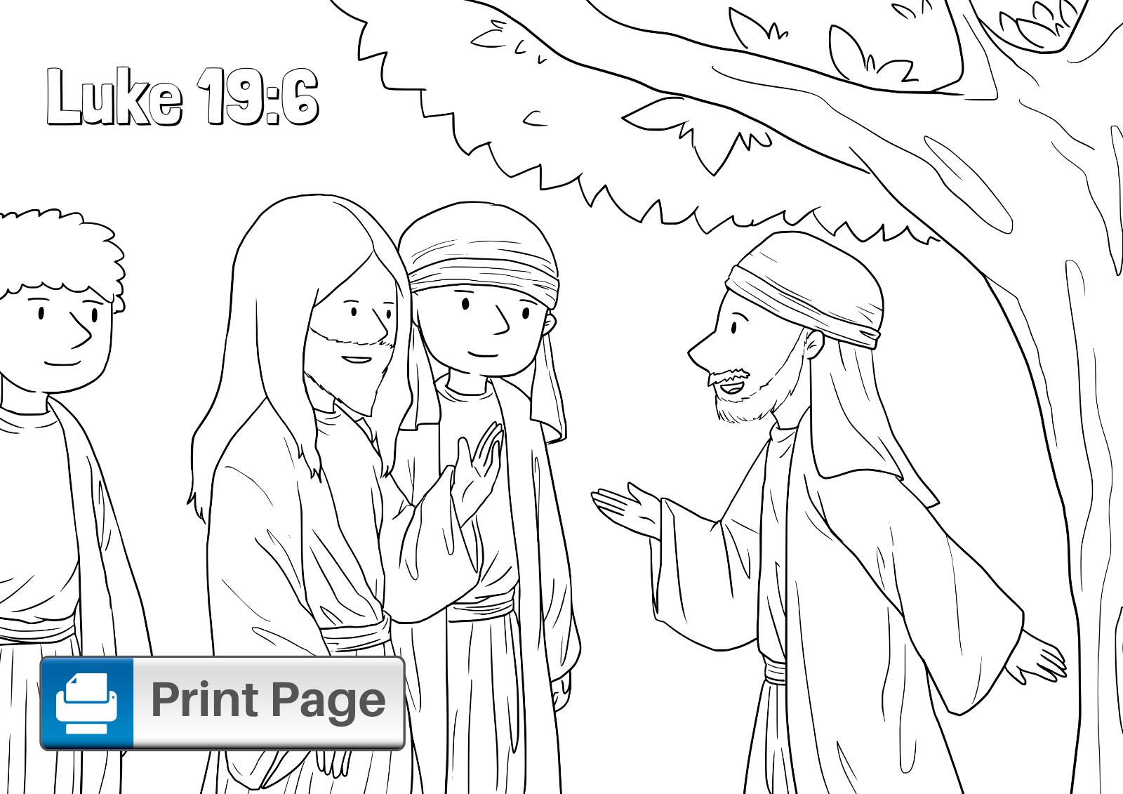Zacchaeus Coloring Sheet