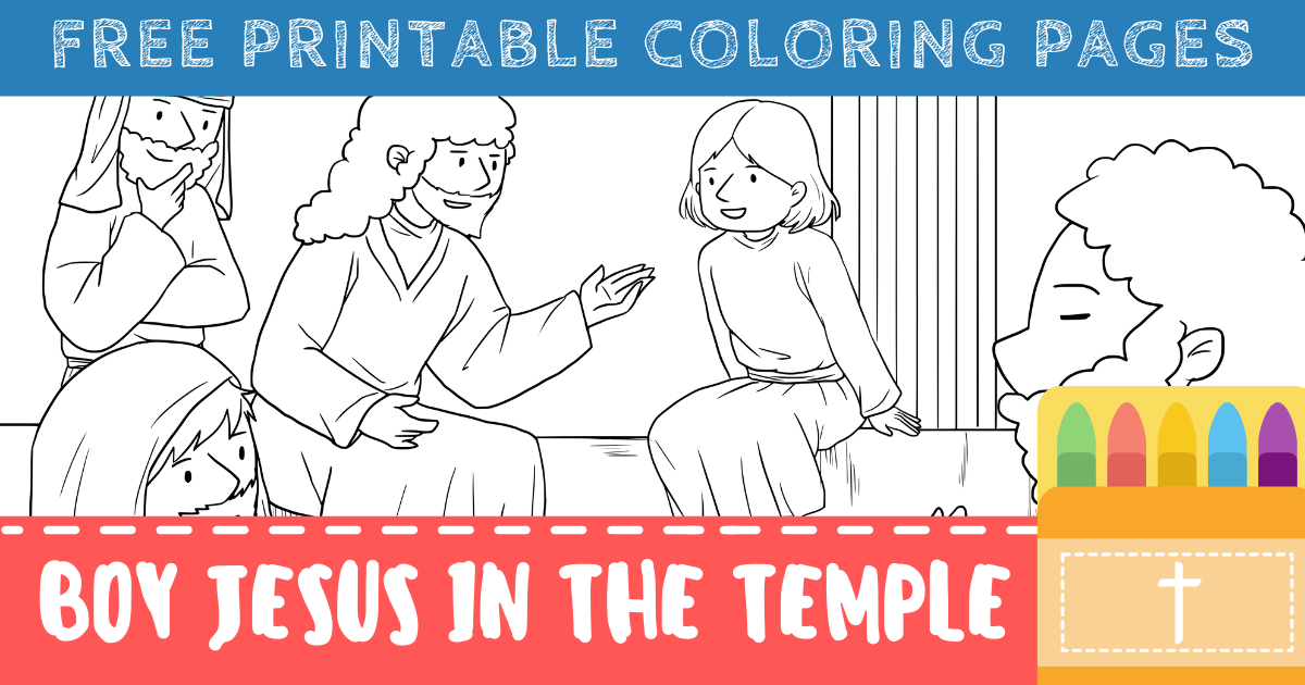 Boy Jesus in the Temple Coloring Pages