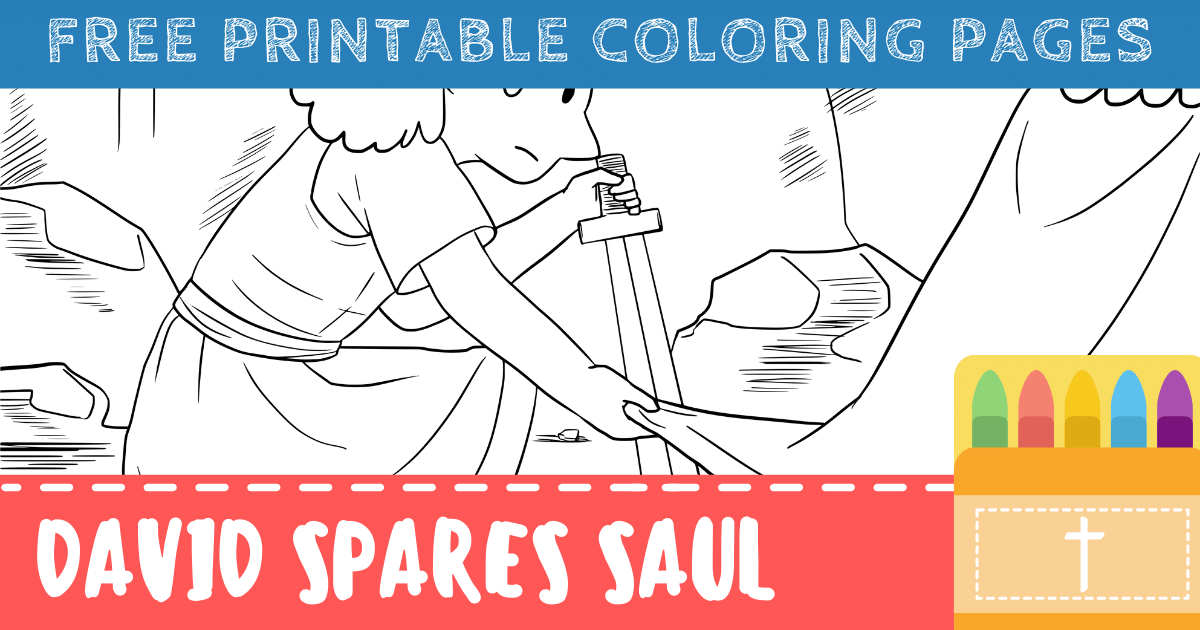 David Spares Saul Coloring Pages
