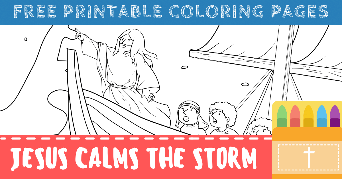 Free Jesus Calms the Storm Coloring Pages (Printable PDFs) – ConnectUS | 630x1200