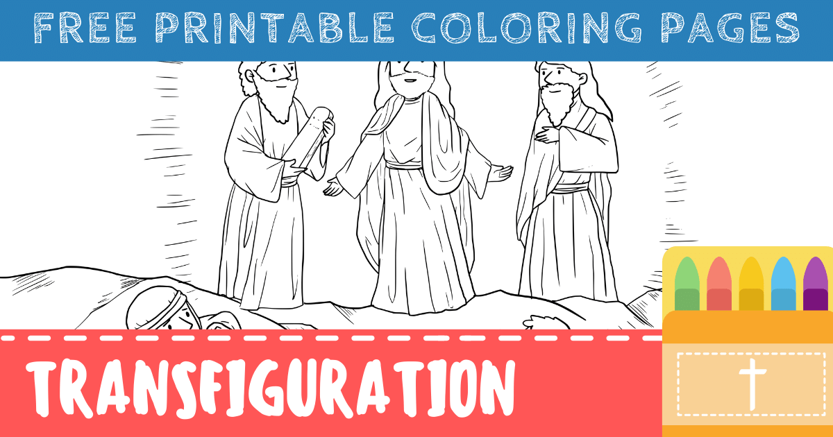Jesus Transfiguration Coloring Pages