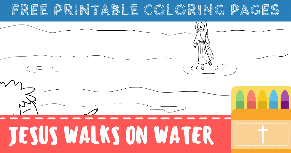 Jesus Walks on Water Coloring