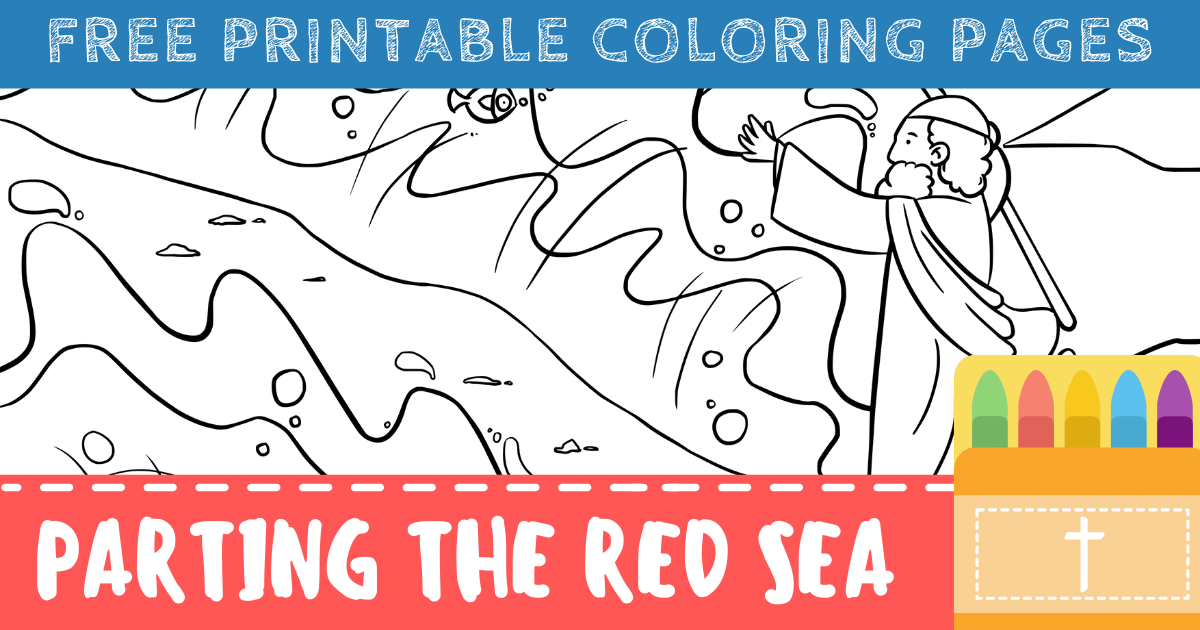 Moses Parting the Red Sea Coloring Pages