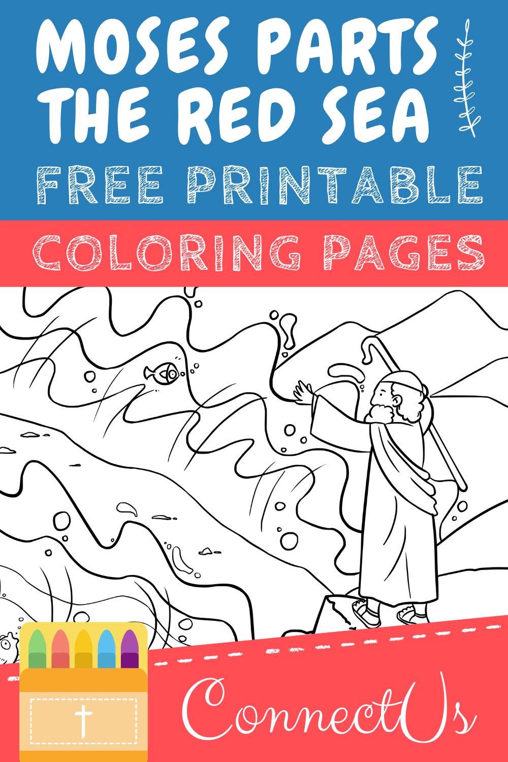 Moses Parting the Red Sea Printables