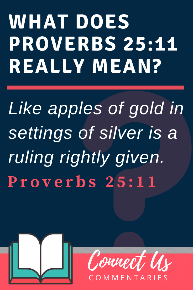 Proverbs 25:11 Meaning and Commentary