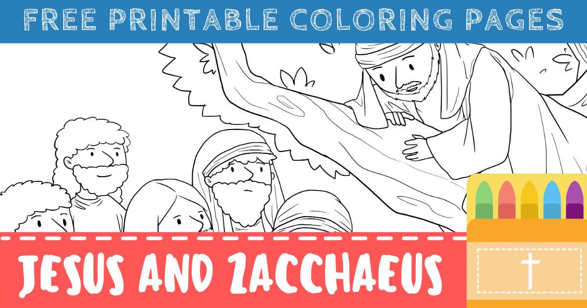 Zacchaeus Coloring Pages