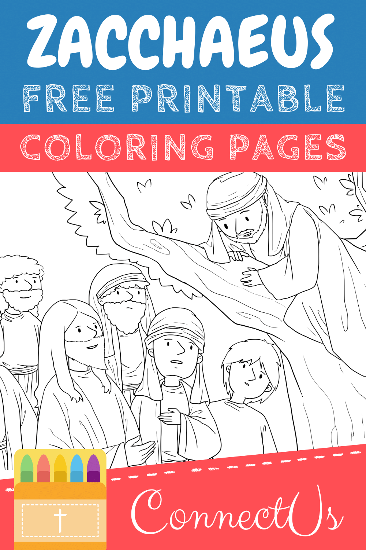 Zacchaeus Coloring Pages