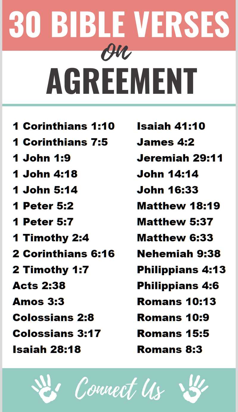 Bible Verses on Agreement