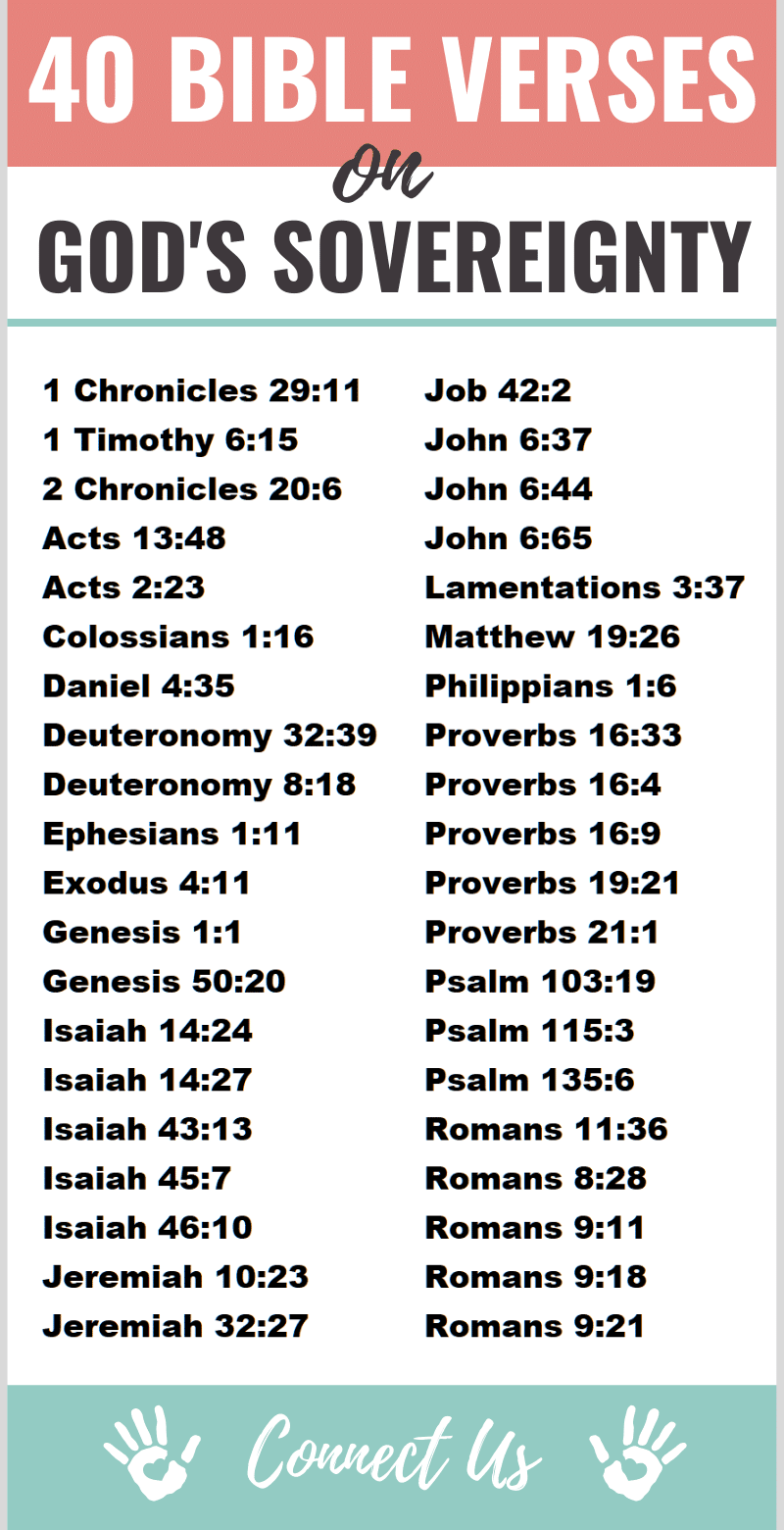 Bible Verses on God's Sovereignty