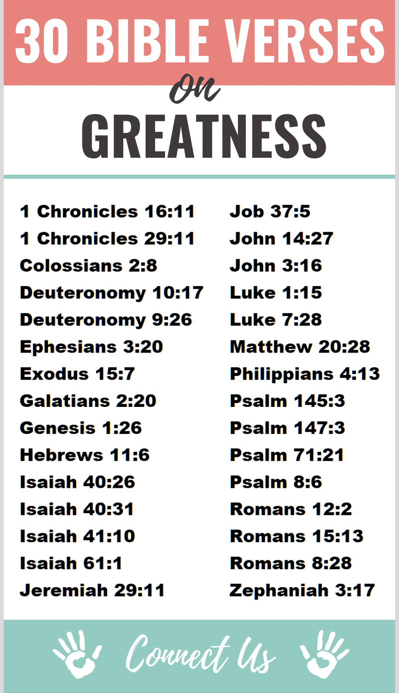 Bible Verses on Greatness
