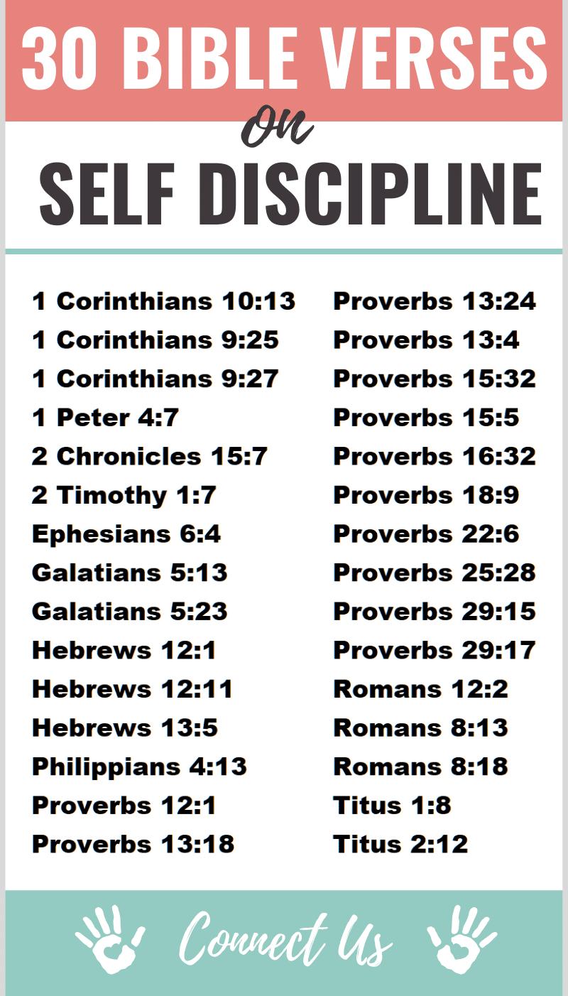 Bible Verses on Self Discipline