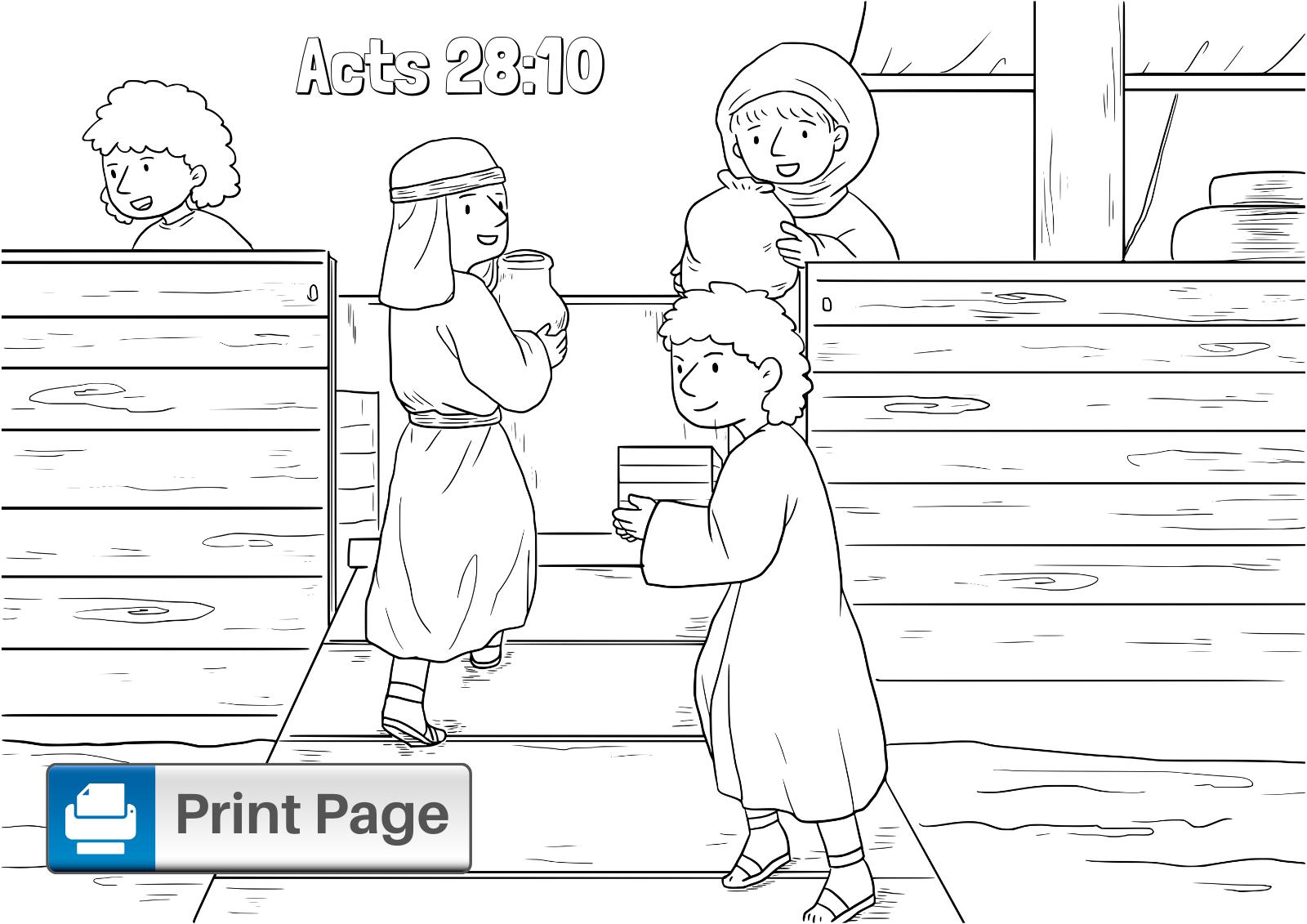 Paul Shipwreck Coloring Printable