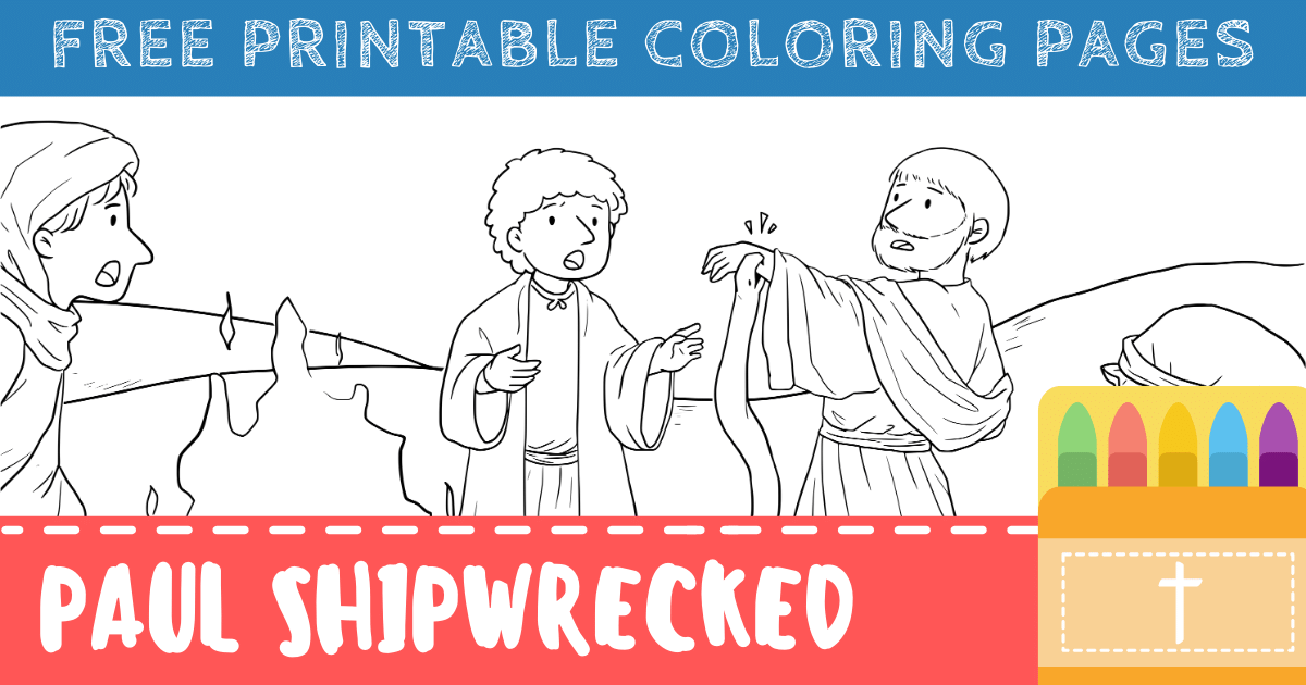 Paul Shipwrecked Coloring Pages