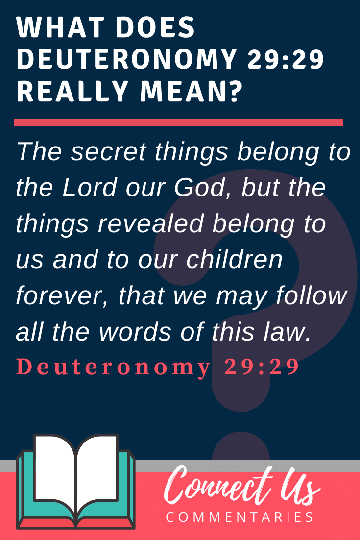 Deuteronomy 29:29 Meaning and Commentary
