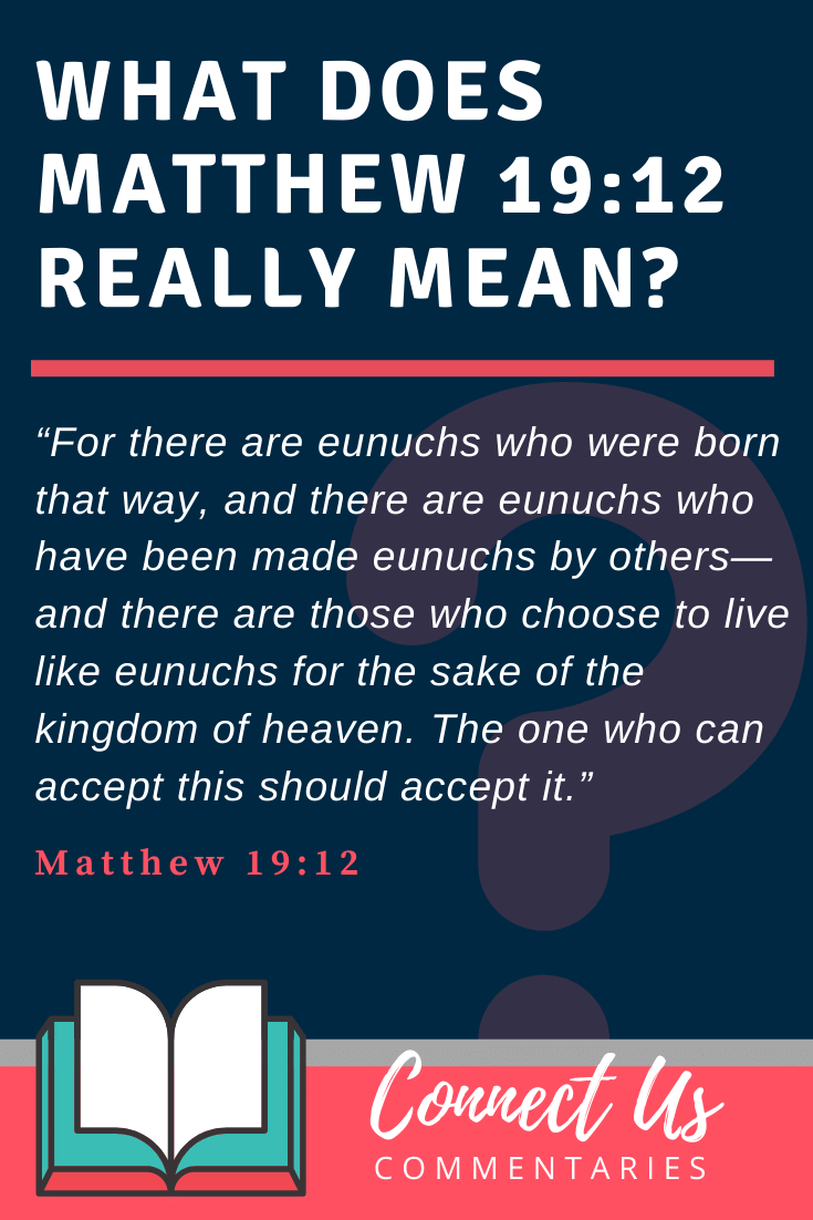 Matthew 19:12 Meaning and Commentary