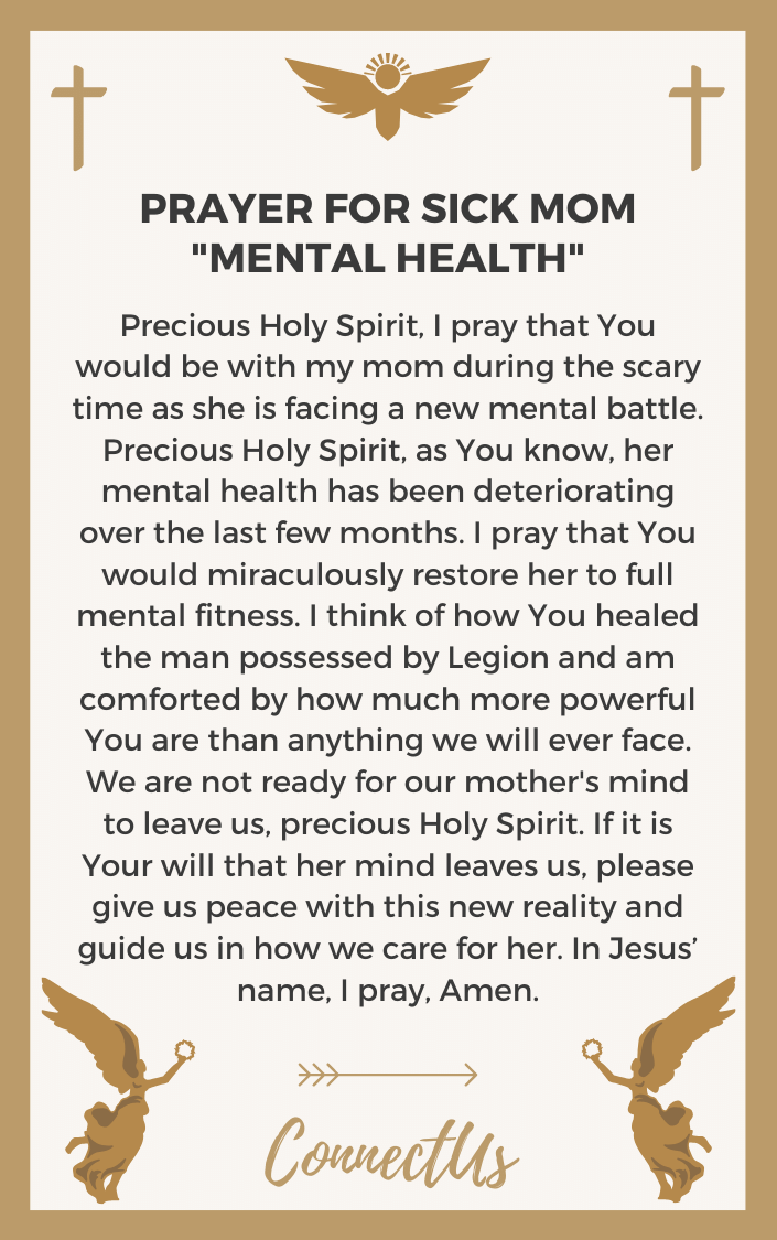 25 Powerful Prayers for Sick Mom – ConnectUS