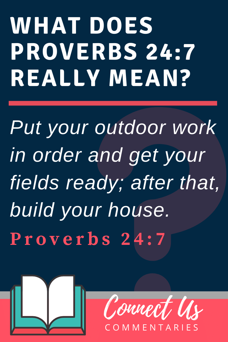 Proverbs 24:27 Meaning and Commentary