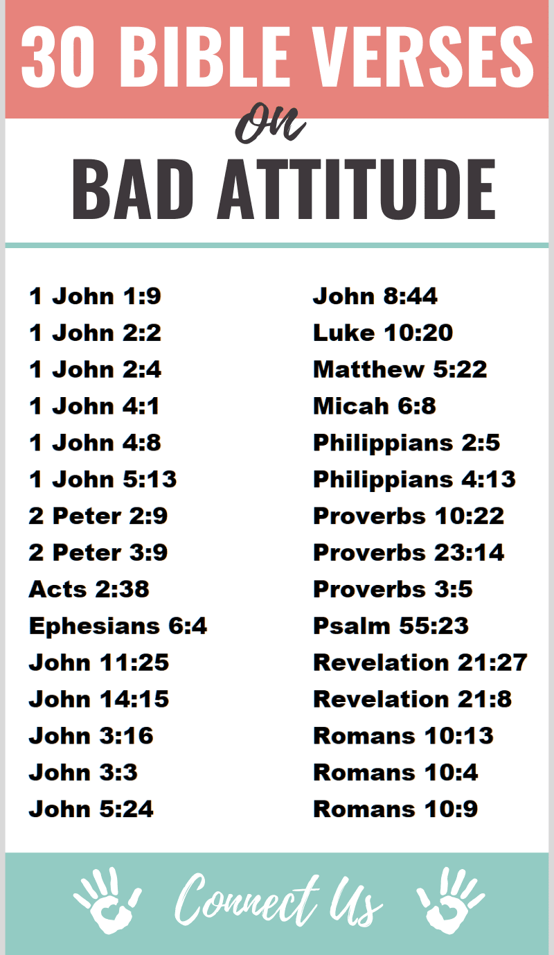 Bible Verses on Bad Attitude