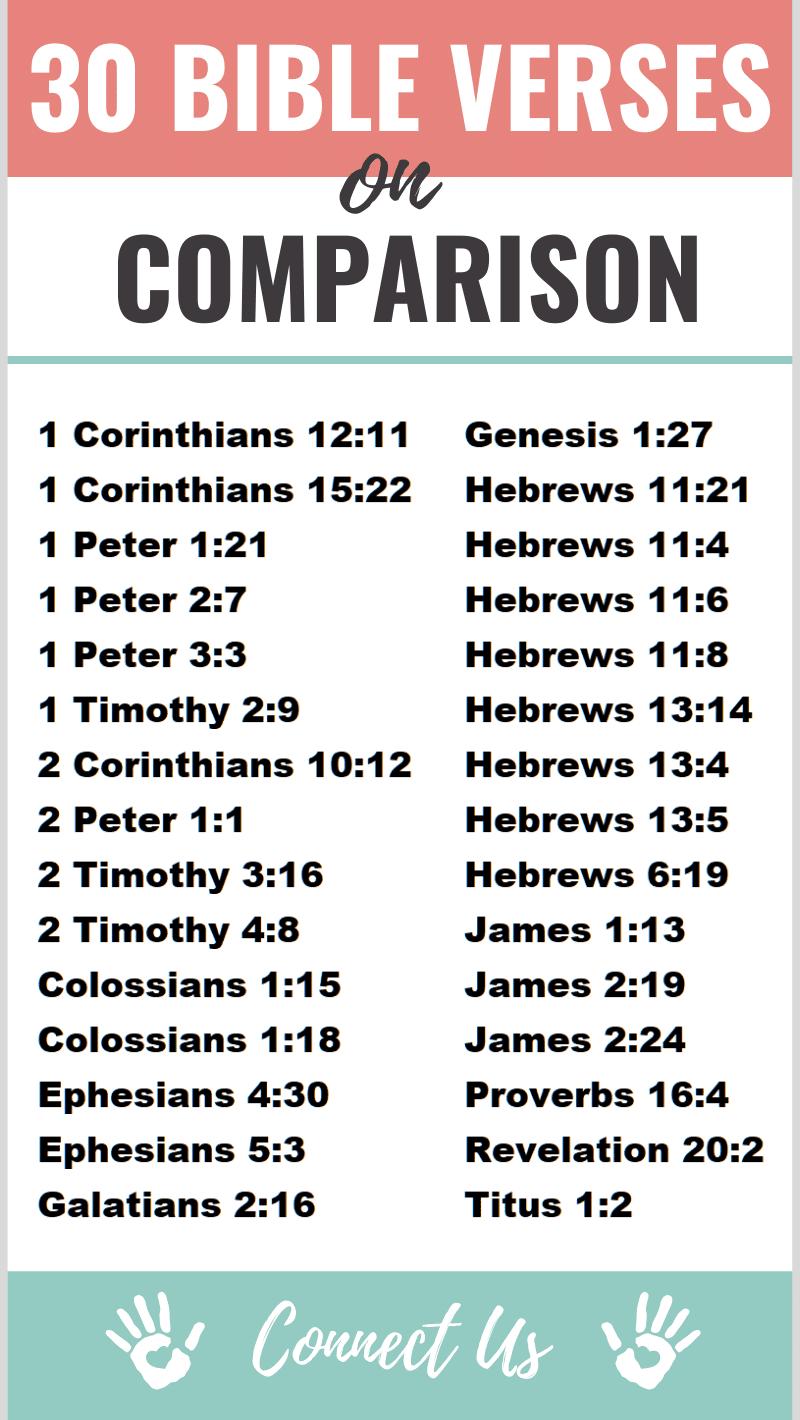 Bible Verses on Comparison