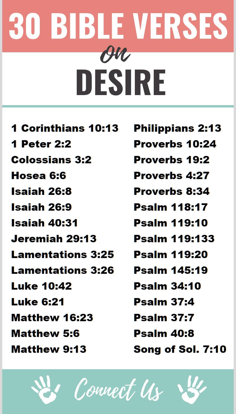 Bible Verses on Desire