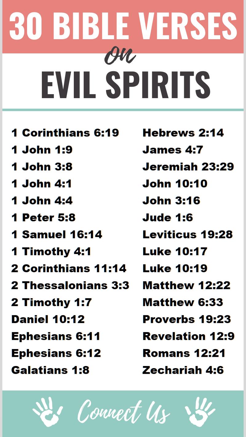 Bible Verses on Evil Spirits