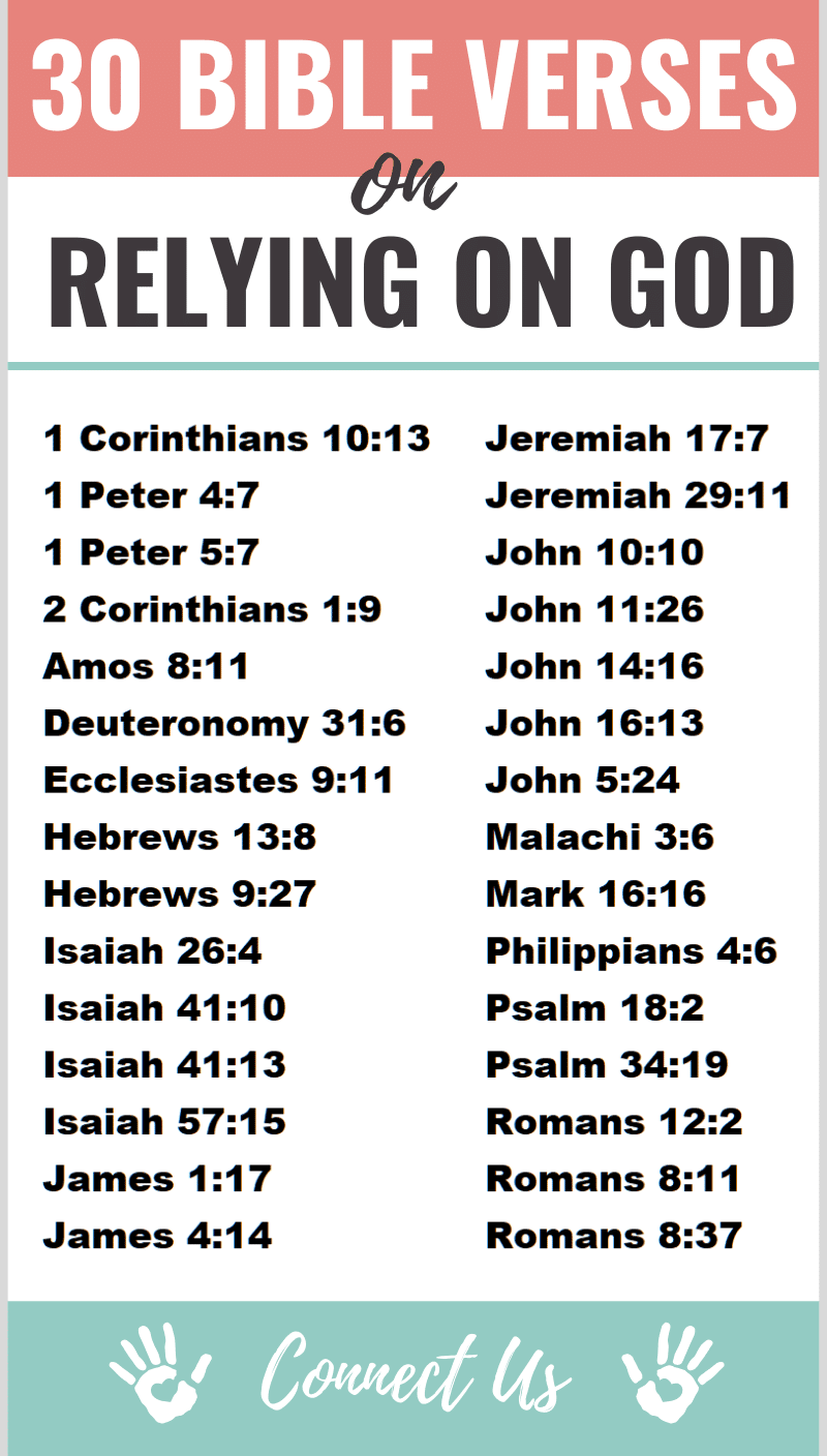 Bible Verses on Relying on God