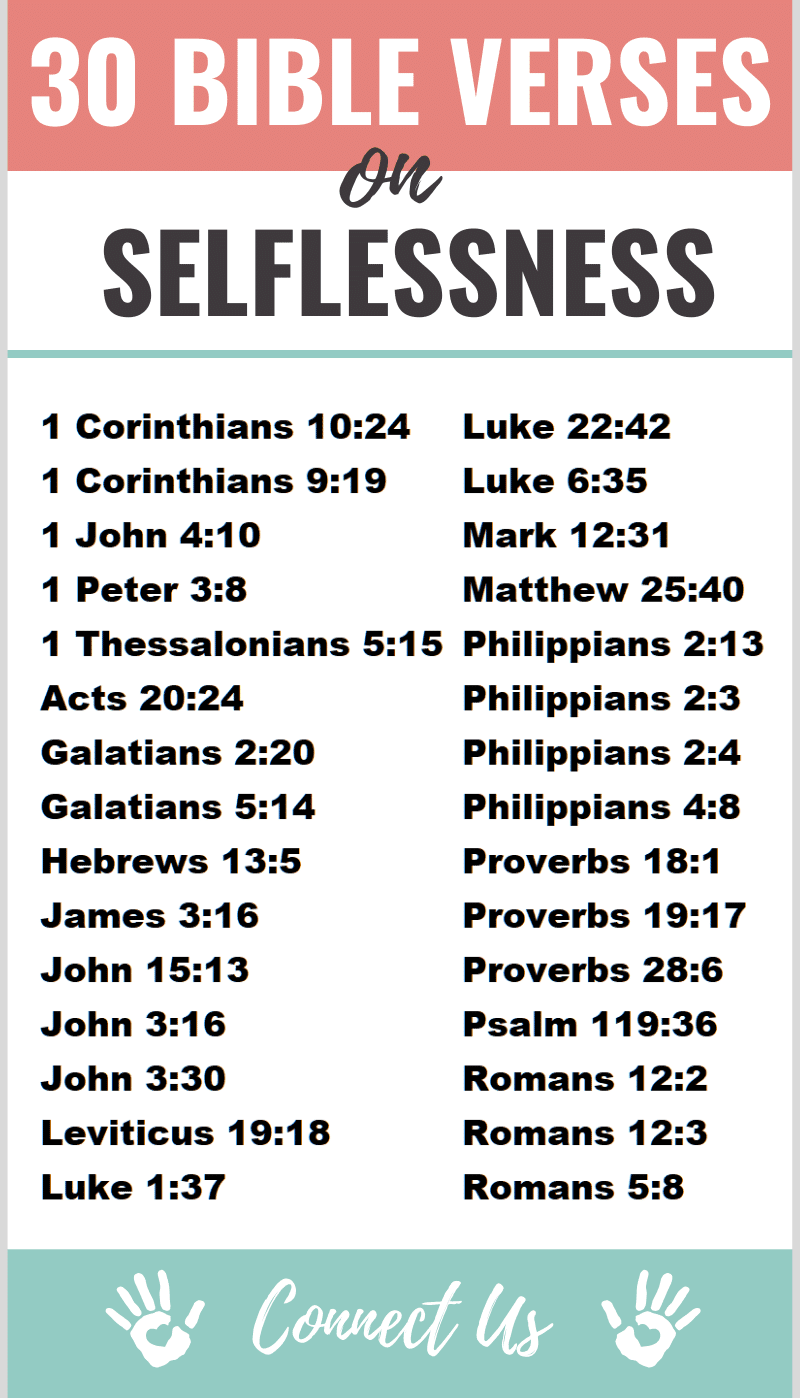 Bible Verses on Selflessness