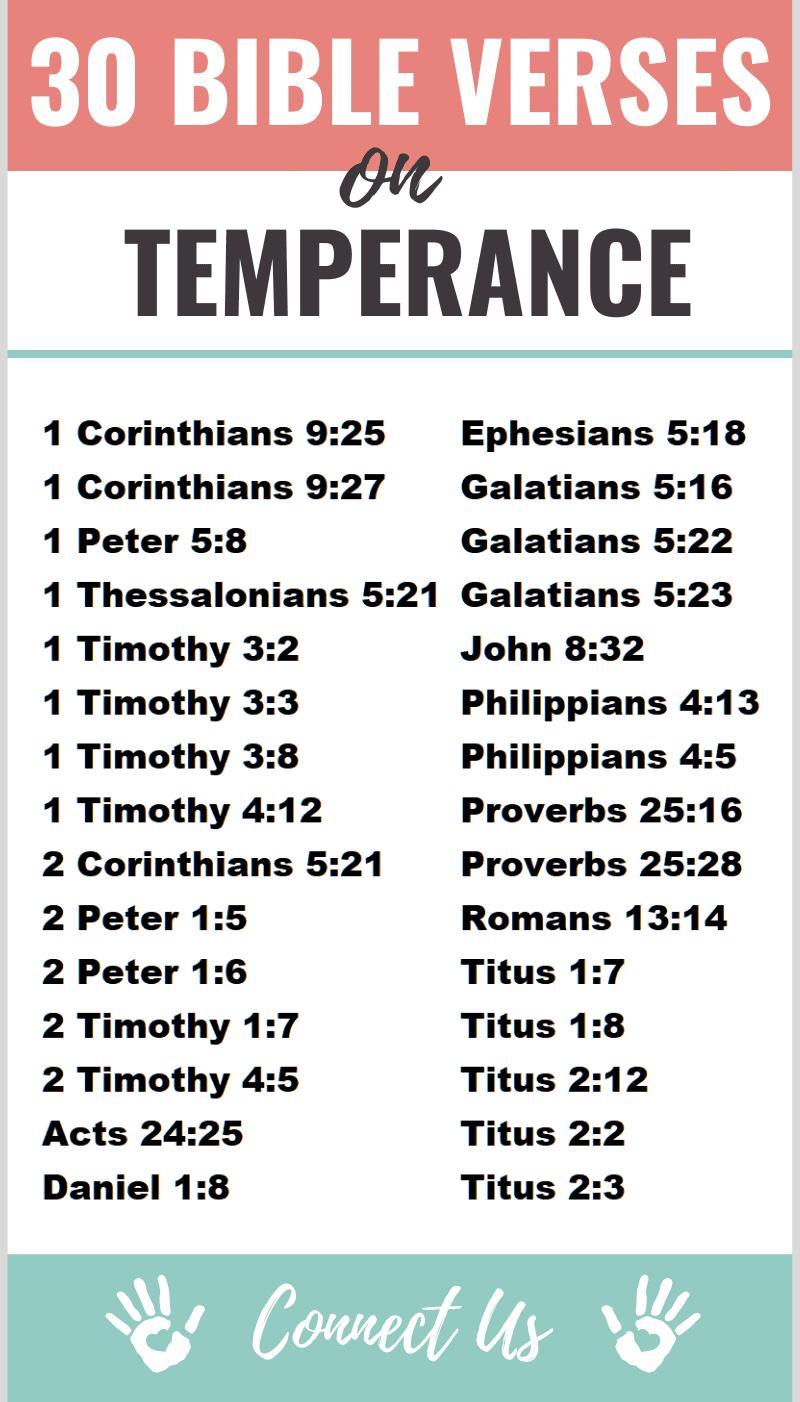 Bible Verses on Temperance