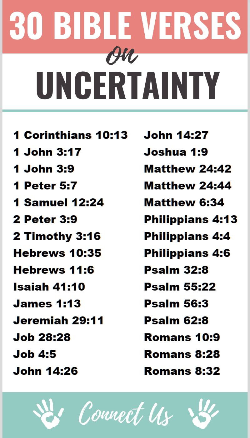 Bible Verses on Uncertainty