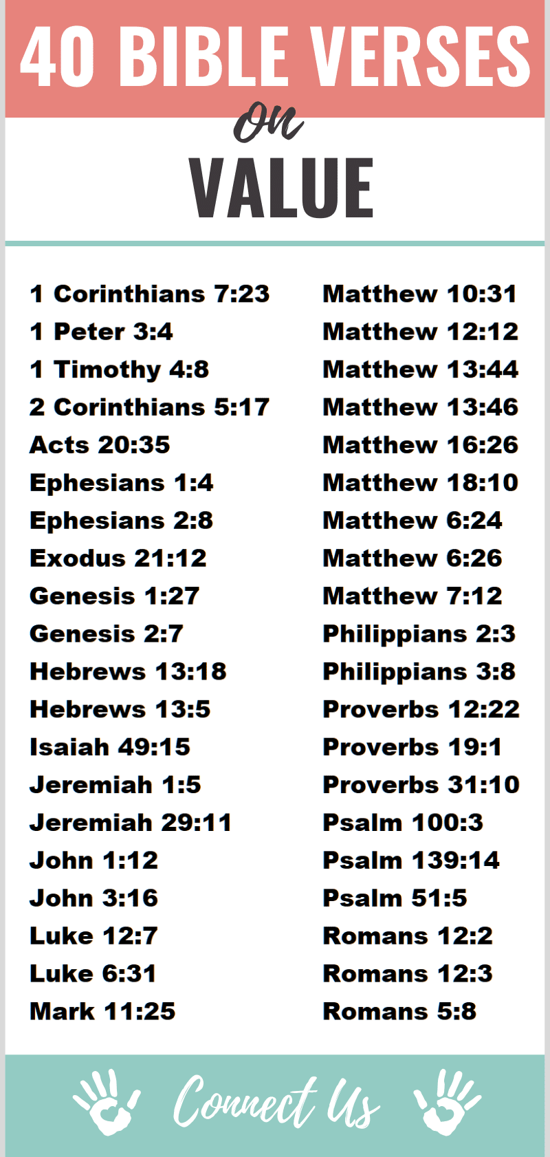Bible Verses on Value