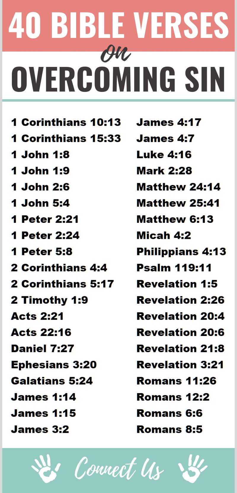 Bible Verses on Overcoming Sin