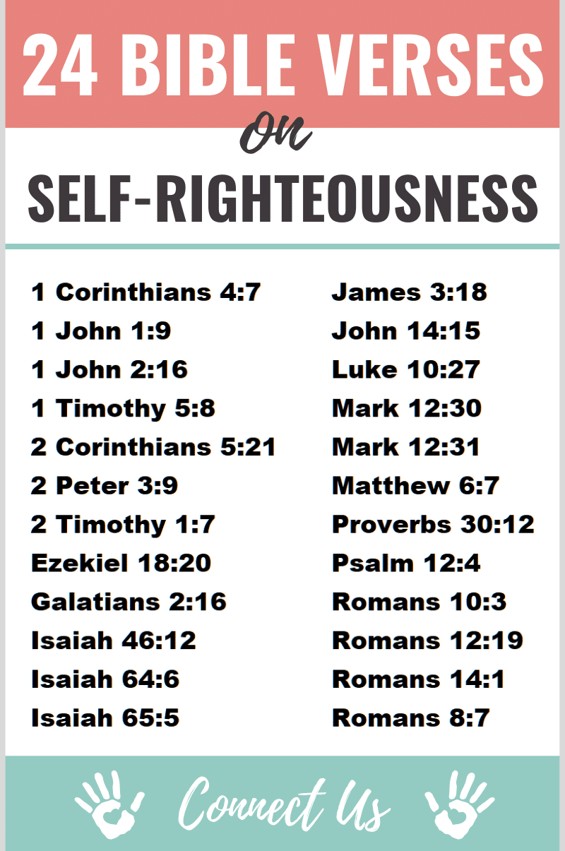 Bible Verses on Self-righteousness