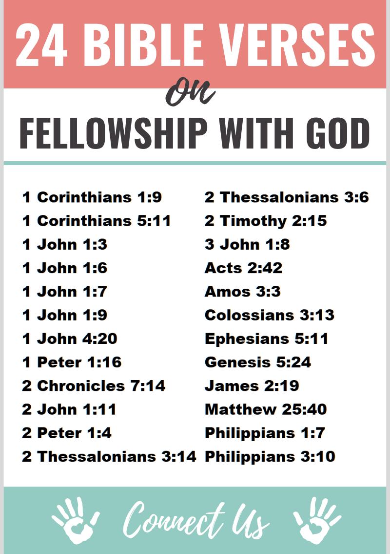 Bible Verses on Fellowship with God