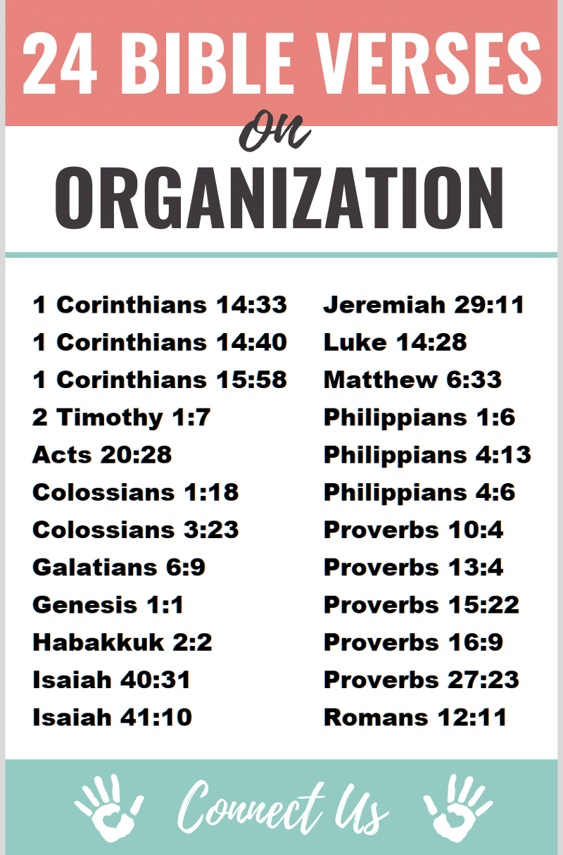 Bible Verses on Organization