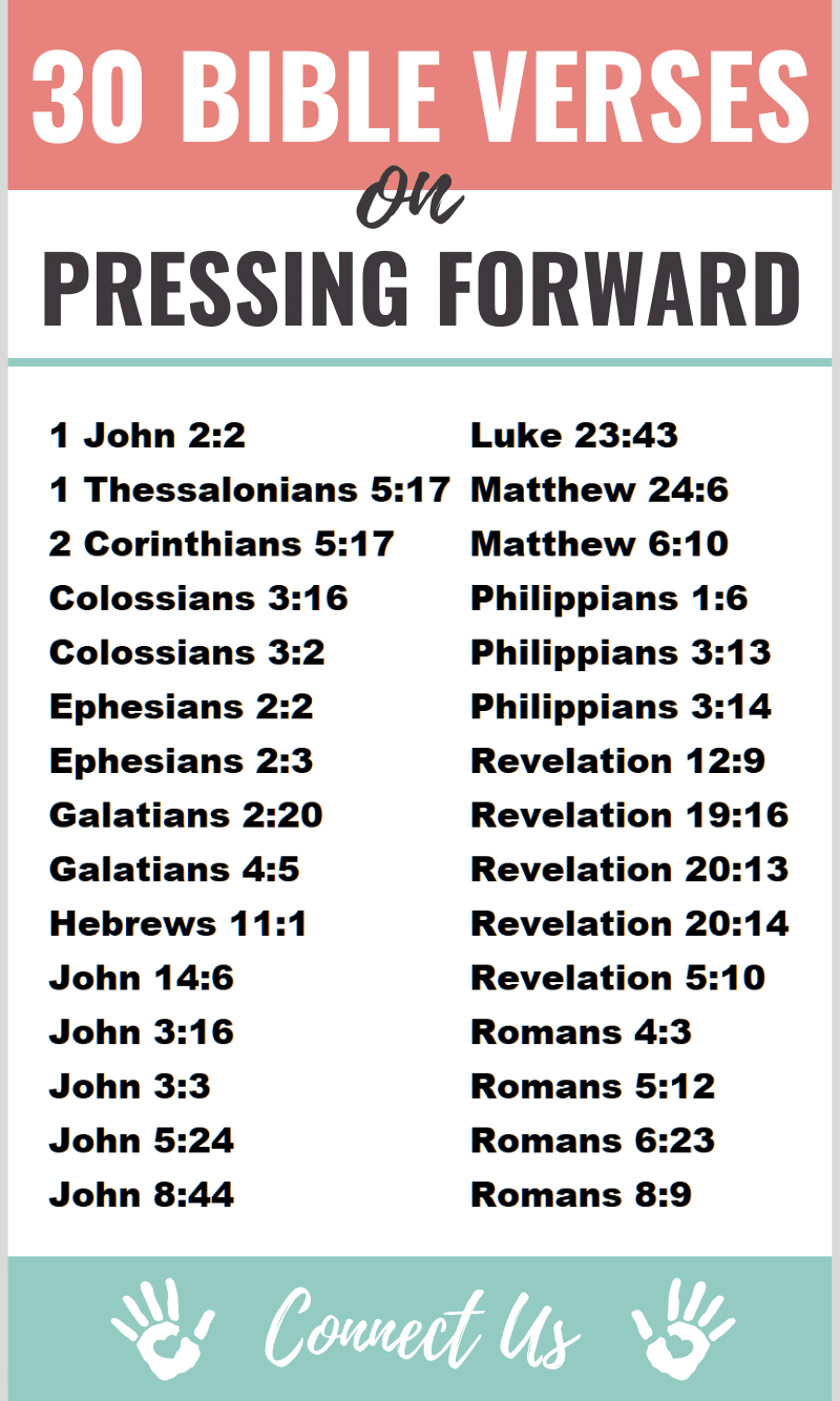 Bible Verses on Pressing Forward