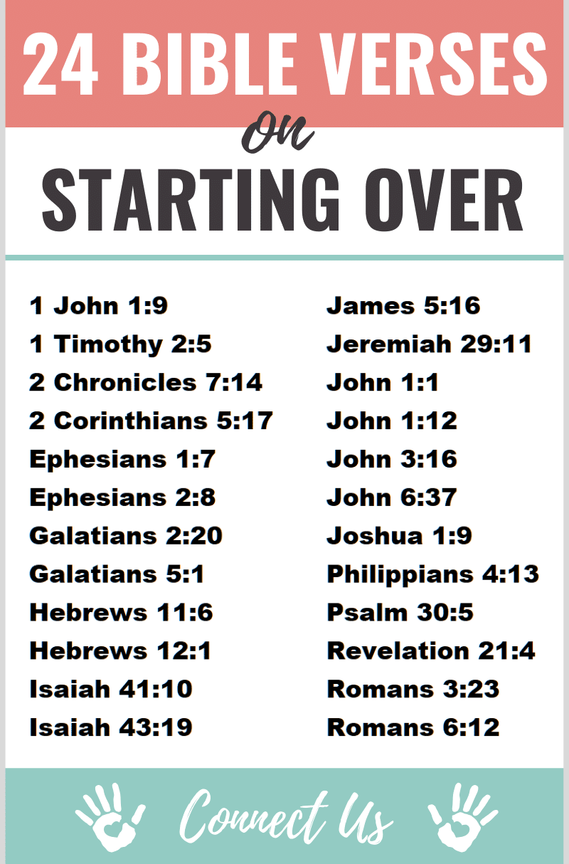 Bible Verses on Starting Over