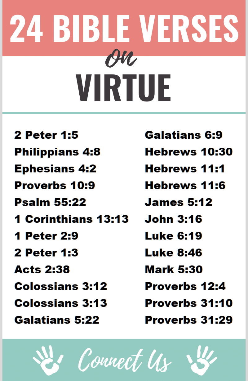 Bible Verses on Virtue
