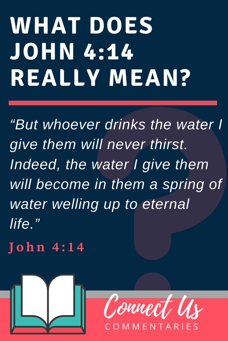 John 4:14 Meaning and Commentary